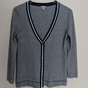 J Jill Wool Blend Botton Down Cardigan